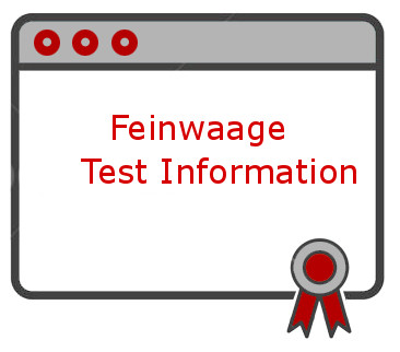 Feinwaage Test