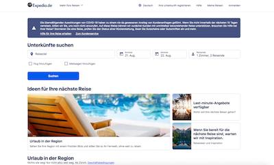 expedia webseite